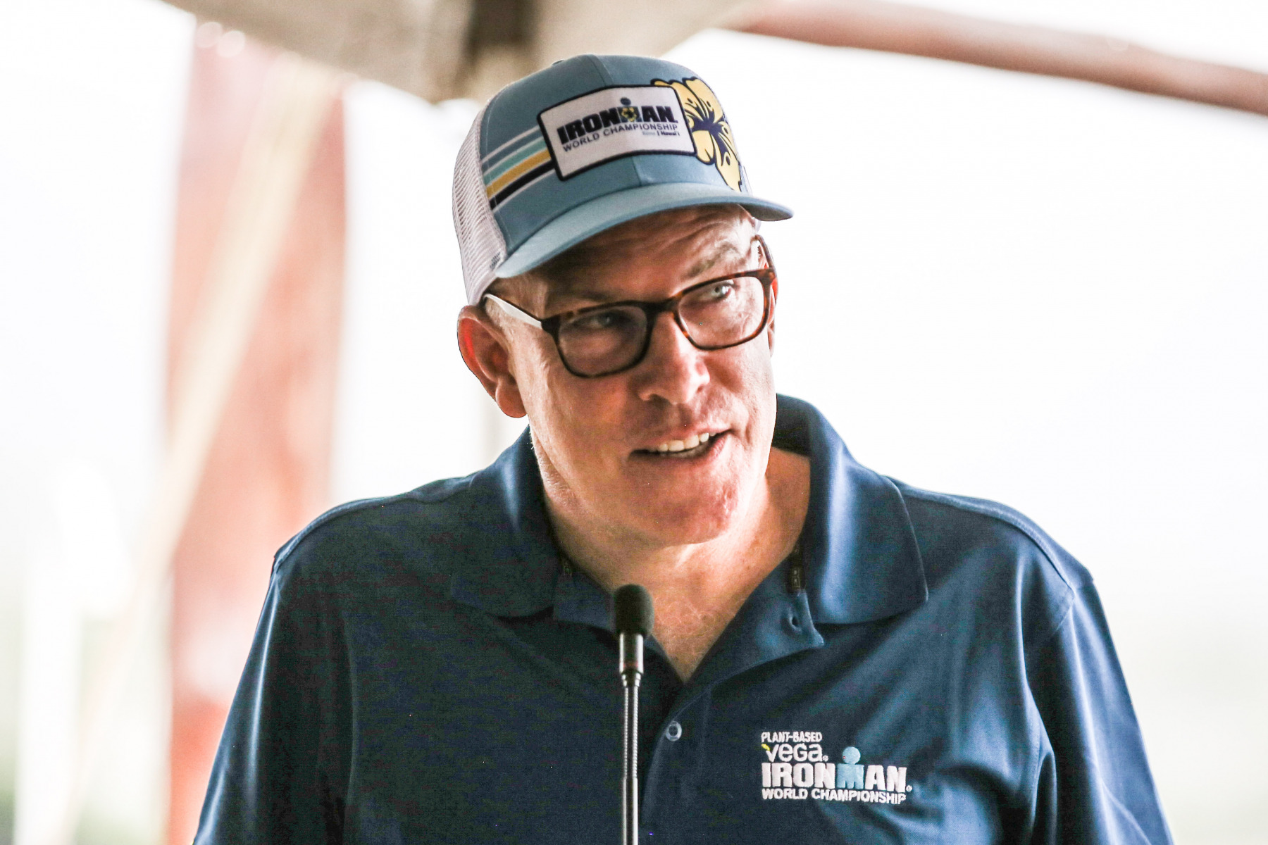 Ironman-CEO Andrew Messick wünscht allen Athleten ein tolles Rennen.