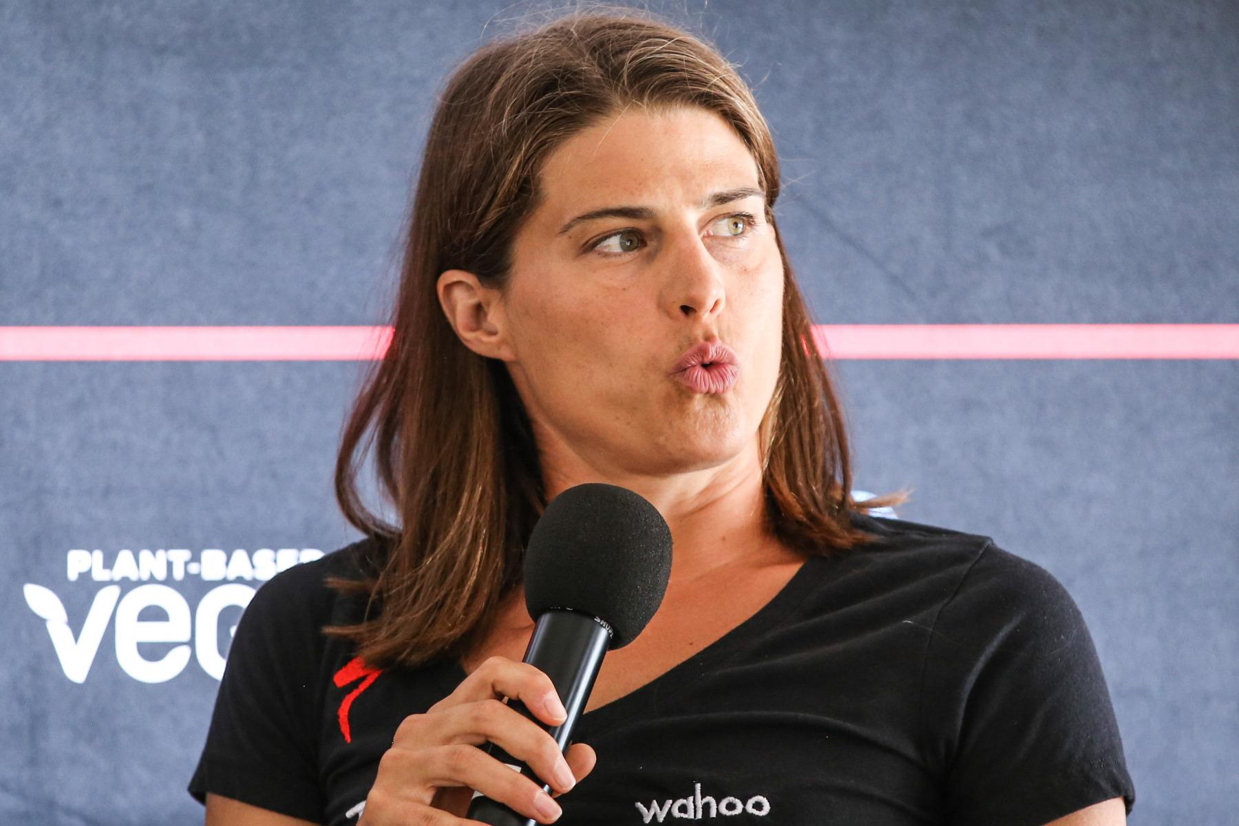 """Sarah True (4. Platz 2018): """"Der Ironman Frankfurt war für mich eine Erfahrung, was man aus einem mentalen Tief lernen kann. Ich werde das Rennen nicht aus meinem Kopf löschen können."""""""