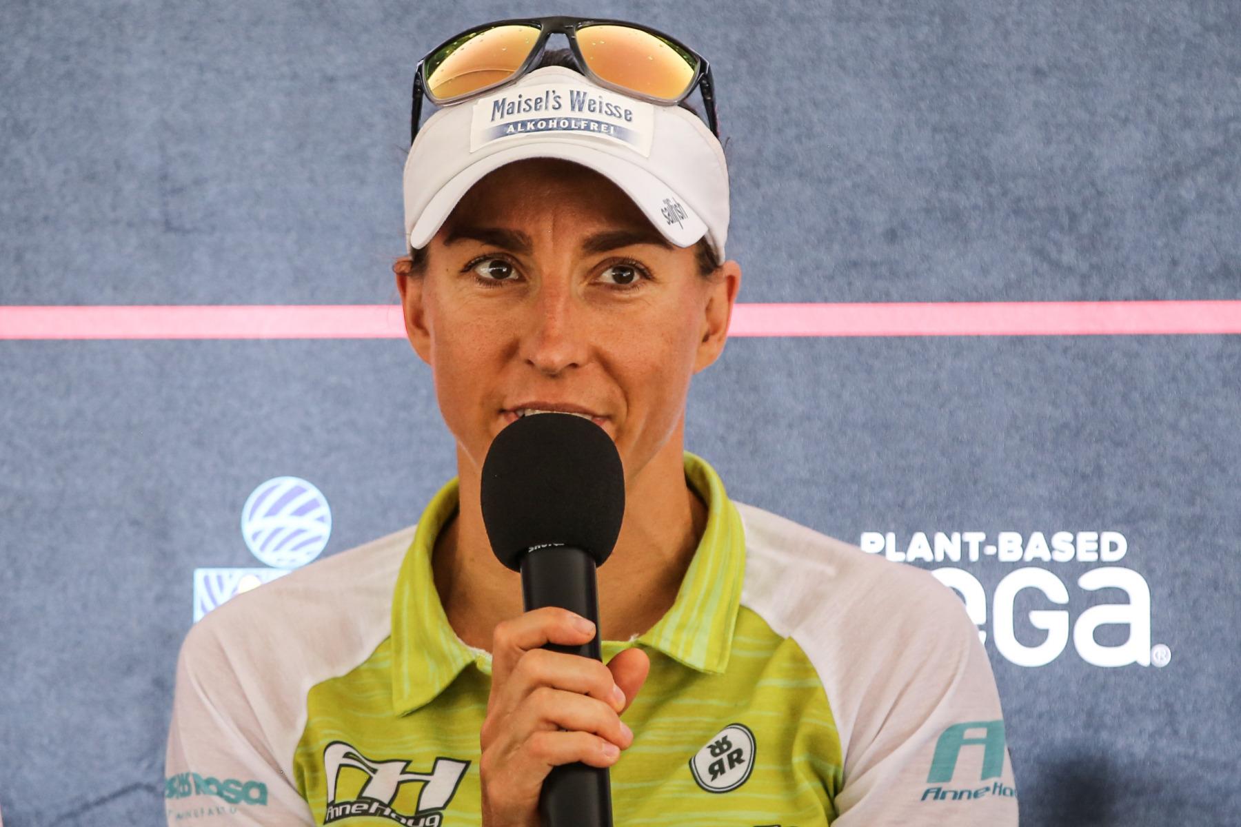 """Anne Haug (3. Platz 2018): """"Das Rennen in Kopenhagen hat mich nach der schwierigen Saison selbst überrascht. Ich bin selbstbewusst und habe Vertrauen in meine Leistung, aber die Rennen lassen sich nicht vergleichen. Hawaii ist speziell mit den Bedingungen und dieser starken Konkurrenz."""""""