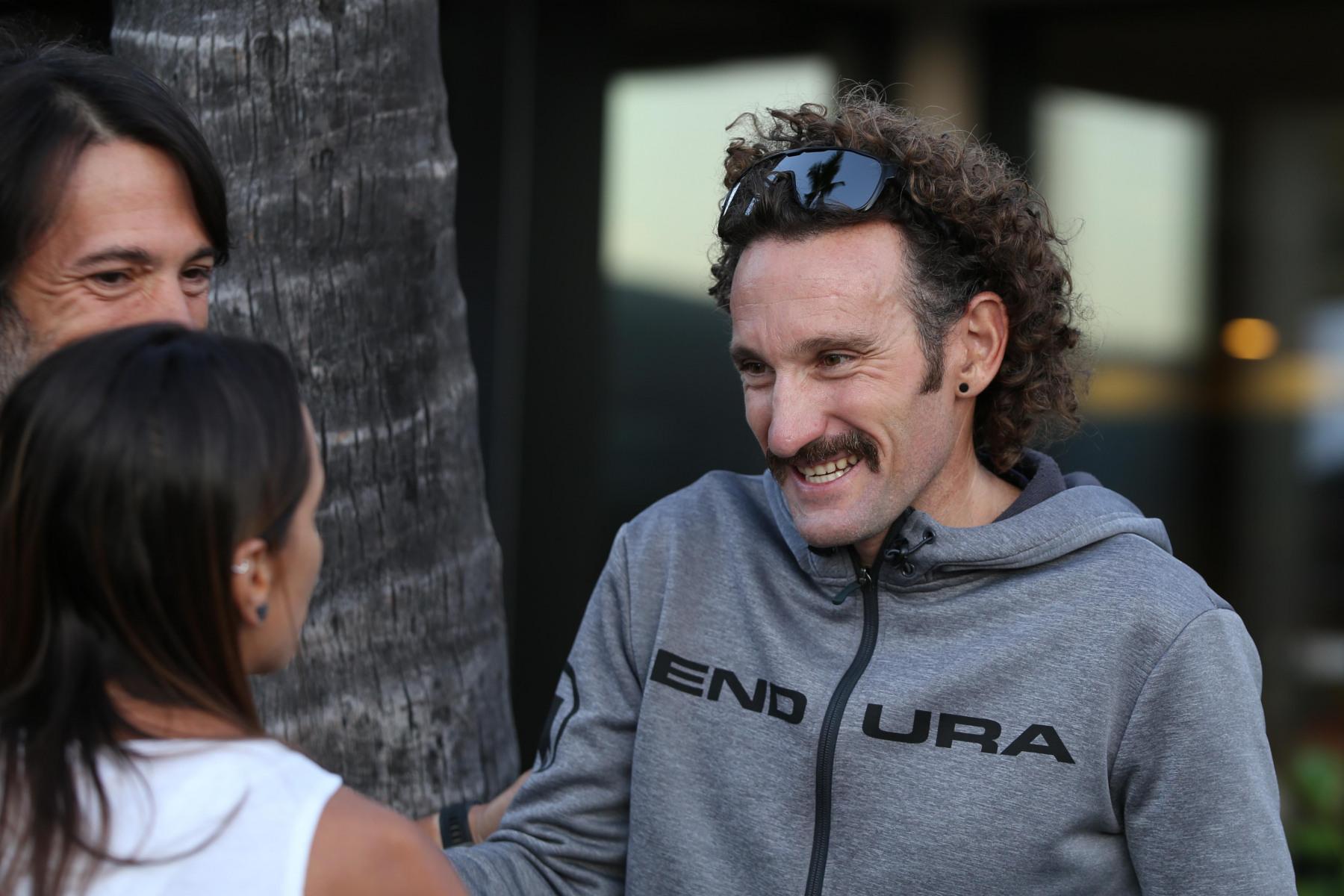Tim Don startet zwar nicht bei der WM, ist aber als Mentor für die Athleten vom ZWIFT-Team vor Ort.