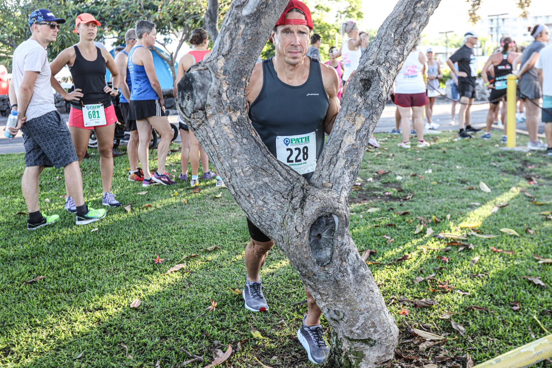 Nicht nur Hawaii-Qualifikanten sind am Start. Zahlreiche mitgereiste Supporter, Freunde und Verwandte nutzen den Lauf, um sich sportlich zu betätigen.