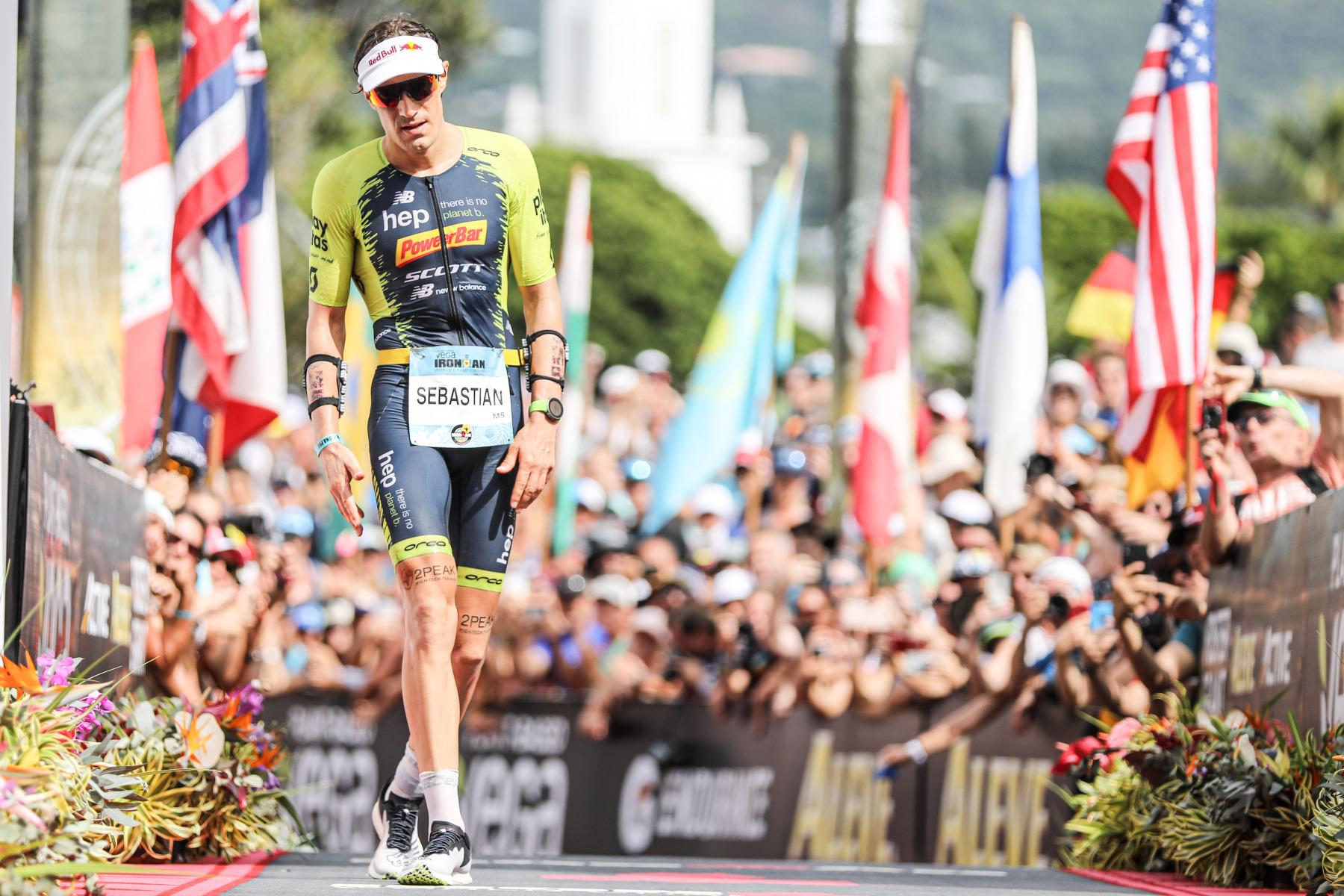 Als Dritter erreicht Sebastian Kienle die Ziellinie.